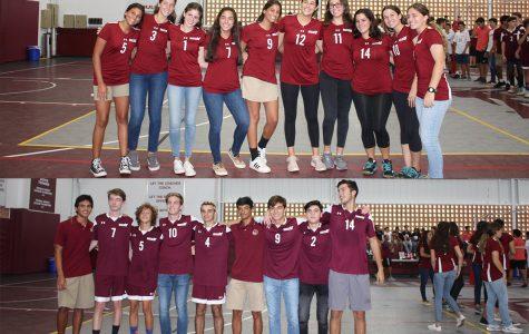 Girls and Boys Varsity Volleyball Teams